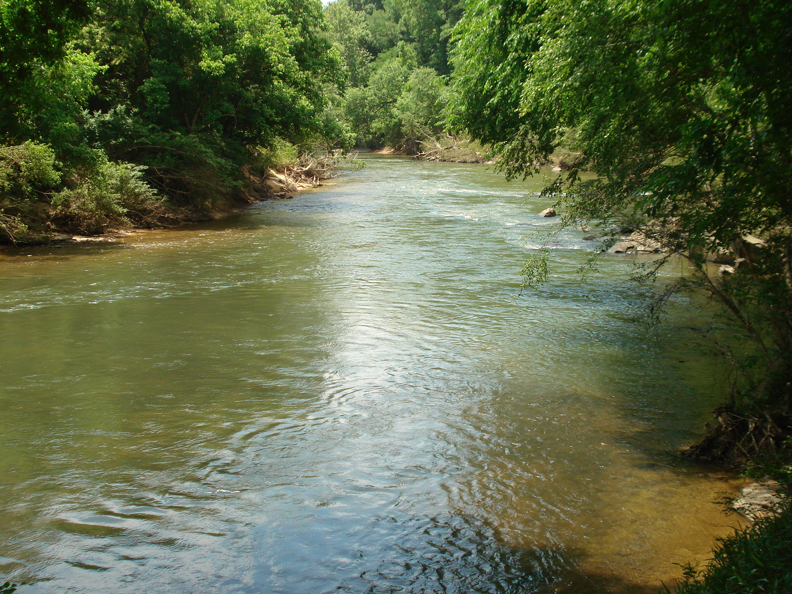 property fronts on both sides of Locust Fork River for 1/2 mile