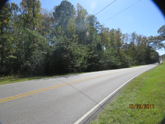 The property fronts for about 800 feet on this county road