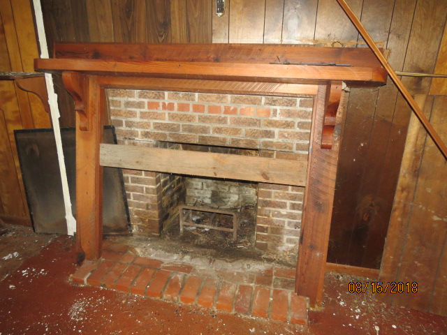 This fireplace is one of 3 brick fireplaces in the sharecroppers shack