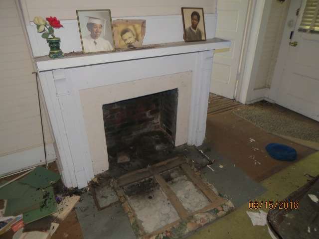 One of 4 fireplaces in the main farm house