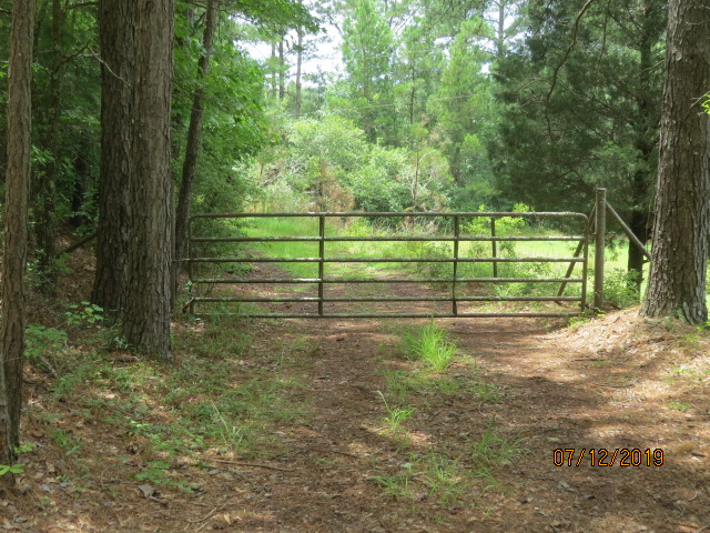 The front gate.  It is about 1,500 feet from here to the cabin