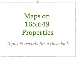 Maps on 165,649 Properties. Topos & arials for a close look