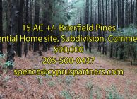 15 AC Land for Home Site, Subdivision, or Commercial Use